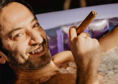 Stages Wim Hof Icemind - Ghassan in Icebath - Stage Wim Hof 99€ - Methode Wim Hof France