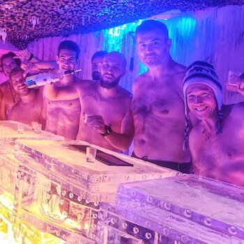 weekends wim hof Paris Hotel Kube Ice bar icemind